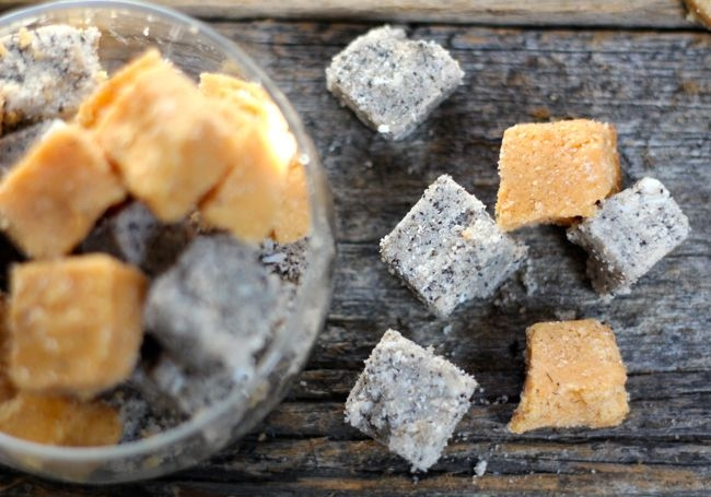 Применение формочек для льда-сахарный скраб своими руками