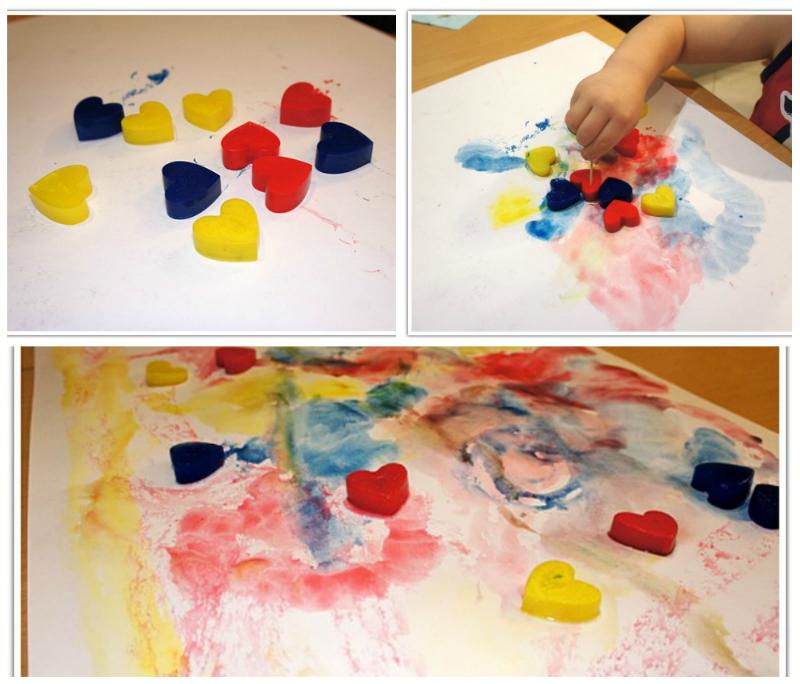 Применение формочек для льда-замороженные краски фото 3