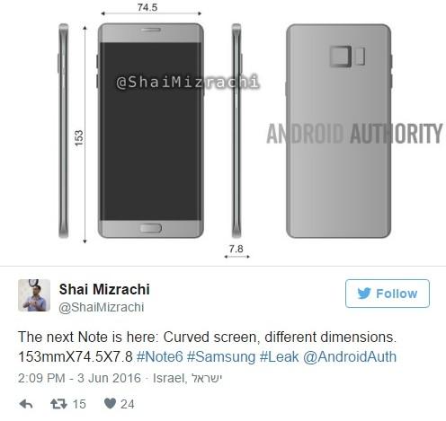 Samsung Galaxy Note 7 появился на новых рендерах (1)