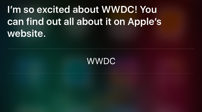Siri ответ 1