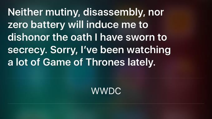 Siri ответ 2