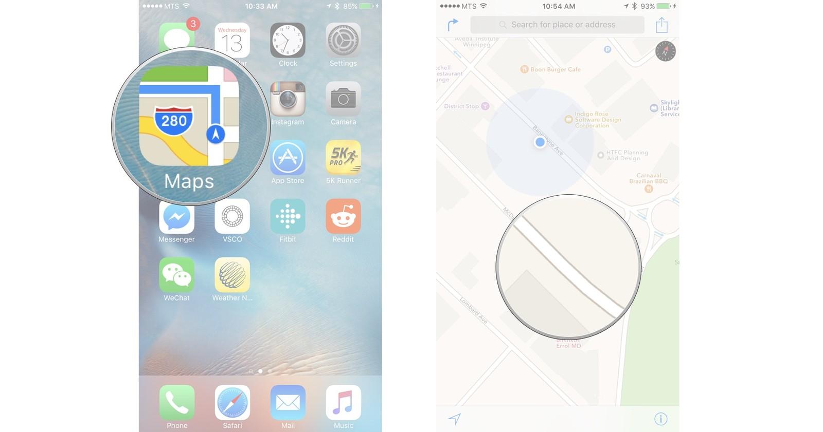 Как сделать карту на iphone 826