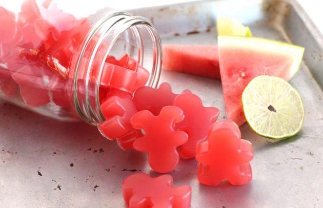 Арбузные жевательные конфеты-фото