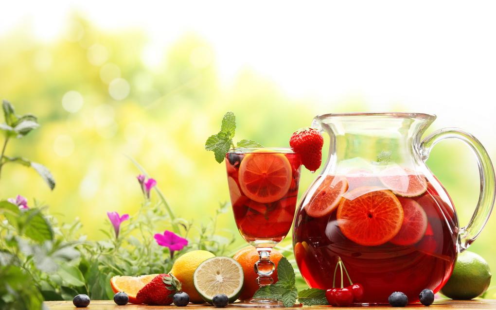 Холодный чай с фруктами-фото и рецепт