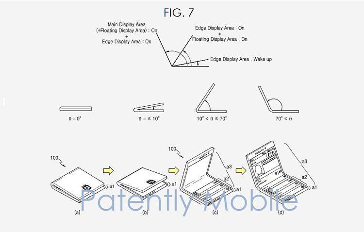 Компания Samsung продемонстрировала складной смартфон – схема 2