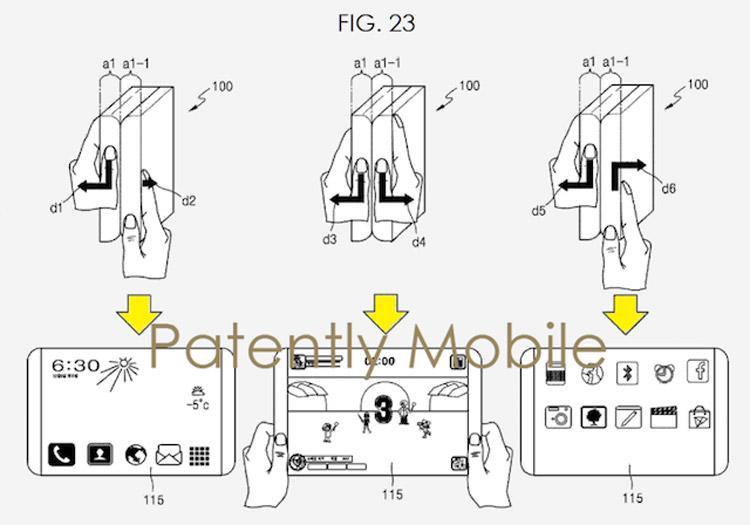 Компания Samsung продемонстрировала складной смартфон - схема