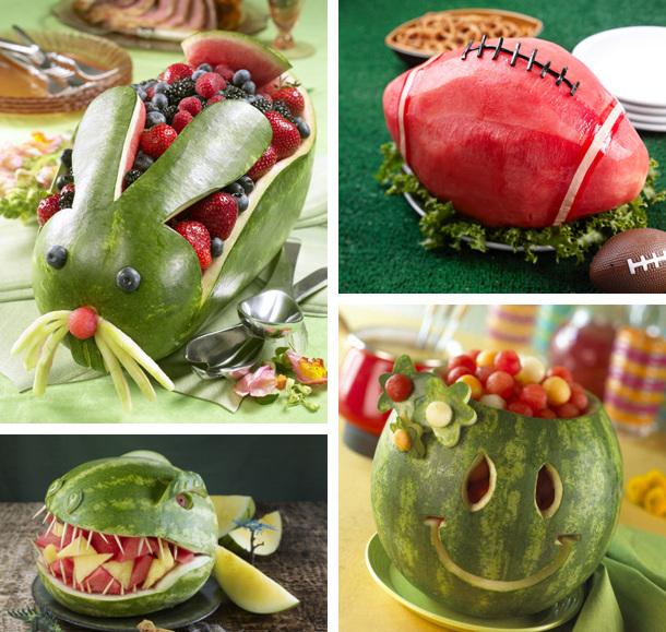 Поделки из арбуза-варианты подачи