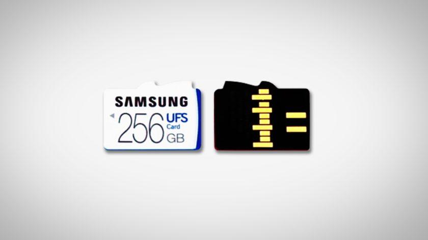 Samsung разрабатывает гибридный слот для карт памяти UFS и microSD - главное фото