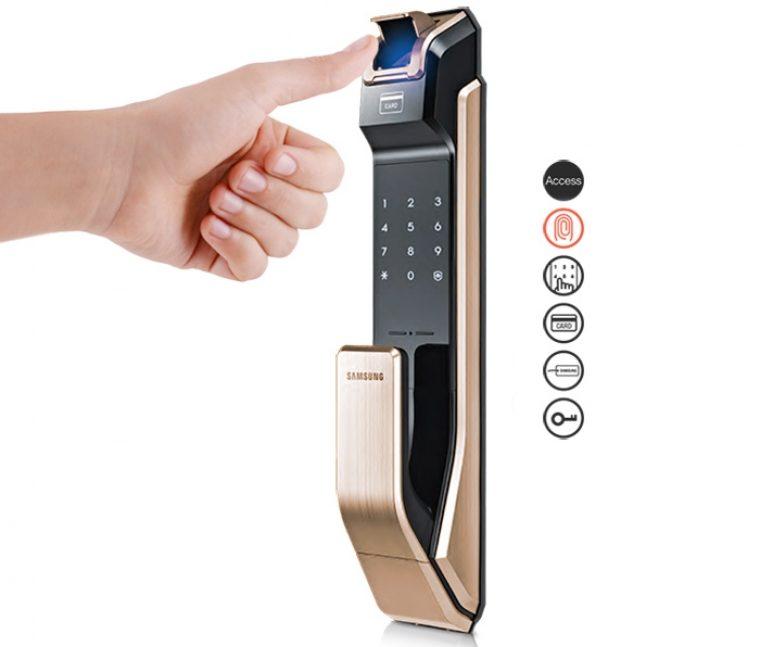 Смарт-замок с дактилоскопическим сканером Samsung SHS-P718 откроет дверь без ключа (2)
