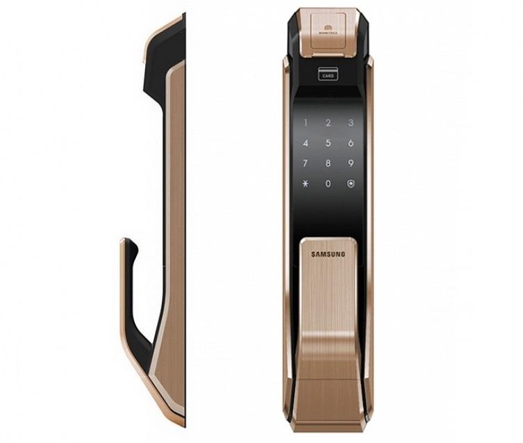 Смарт-замок с дактилоскопическим сканером Samsung SHS-P718 откроет дверь без ключа