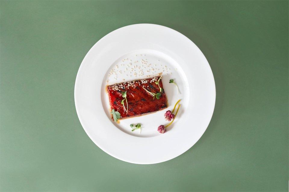 Стейк из арбуза-вариант подачи