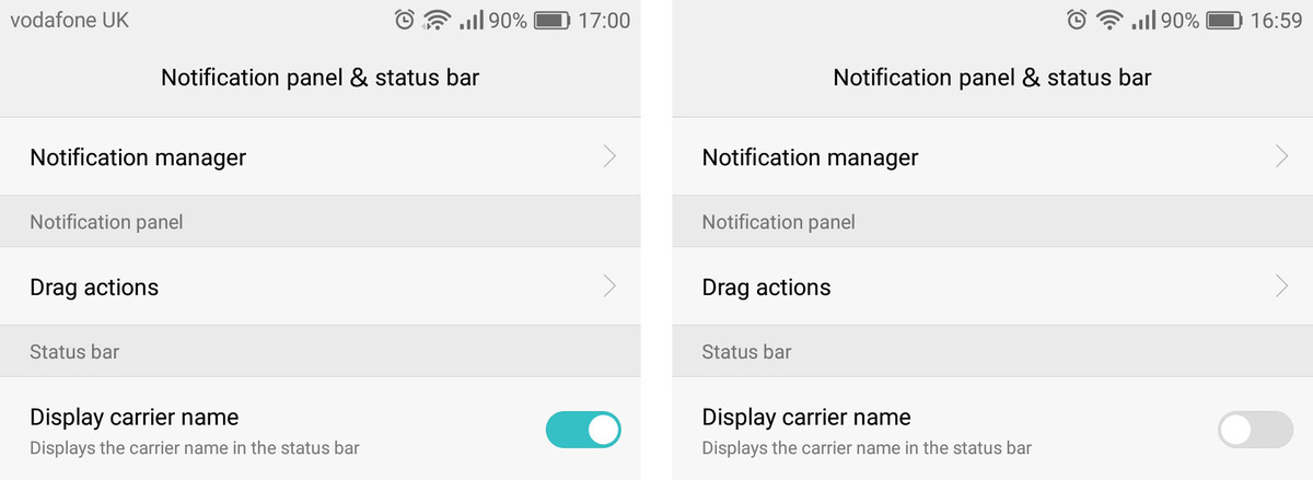 6 настроек, которые сделают смартфон от Huawei лучше - отключите отображение оператора