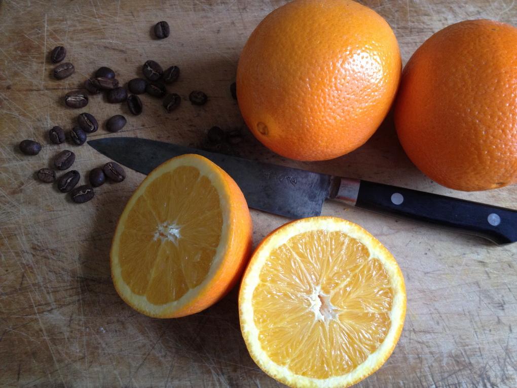 Апельсиновый кофе-ингредиенты