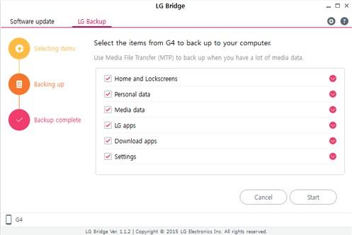 Как сделать резервную копию смартфона на Android - LG Bridge (3)