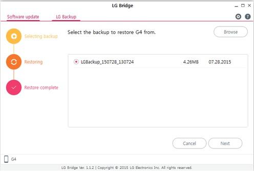 Как сделать резервную копию смартфона на Android - LG Bridge (4)