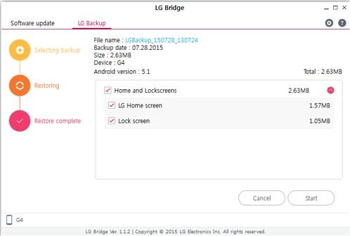 Как сделать резервную копию смартфона на Android - LG Bridge (5)