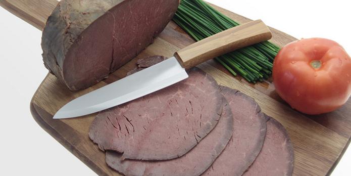 Керамические ножи- Тонкие ломтики ветчины