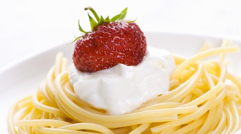 Клубника и спагетти-удивительные сочетания продуктов