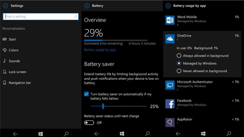 Нововведения в юбилейном обновлении Windows 10 Mobile - Система