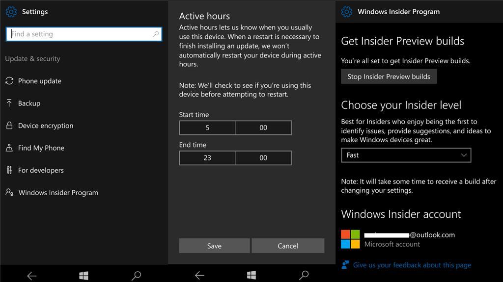 Нововведения в юбилейном обновлении Windows 10 Mobile - Улучшения Параметров