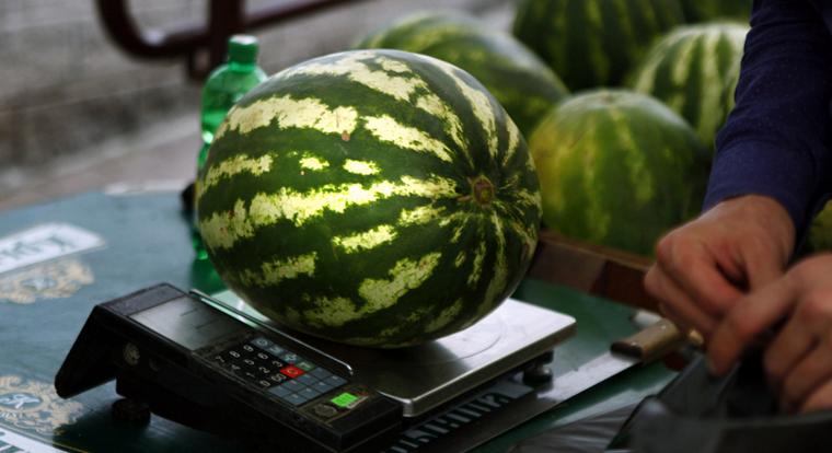 Папка «Фотографии», фото Как выбрать вкусный арбуз-объем и вес