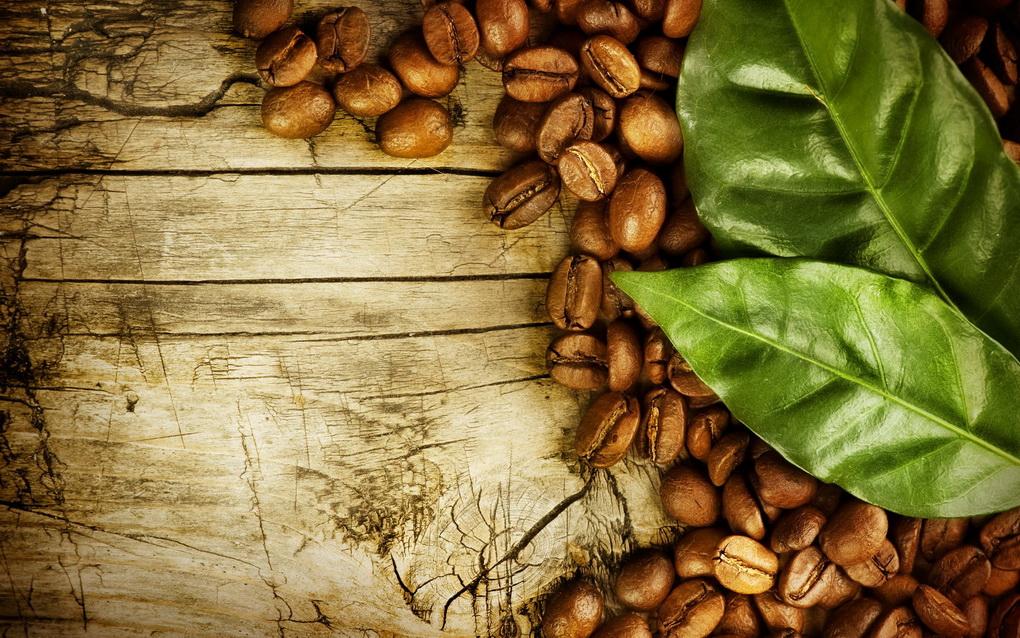 Зерна кофе-крупным планом