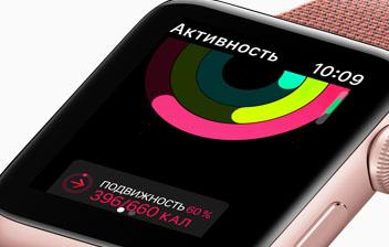 Apple Watch Series 2-кольца активности