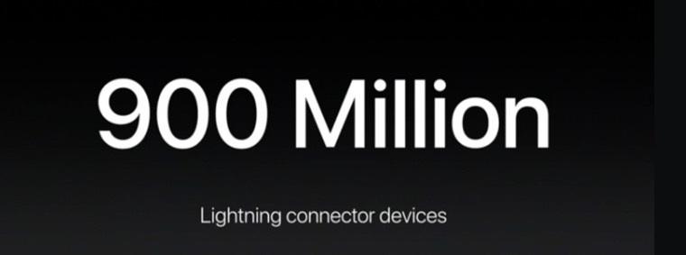 Apple-фирменный разъем и 900 млн девайсов