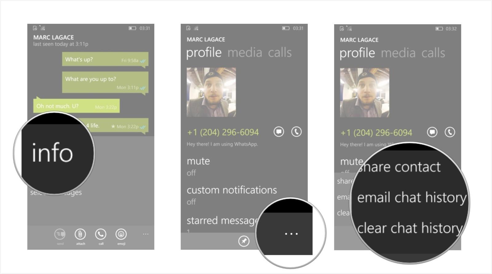 Как сохранить переписку и создать резервную копию в WhatsApp – экспорт сообщений (2)