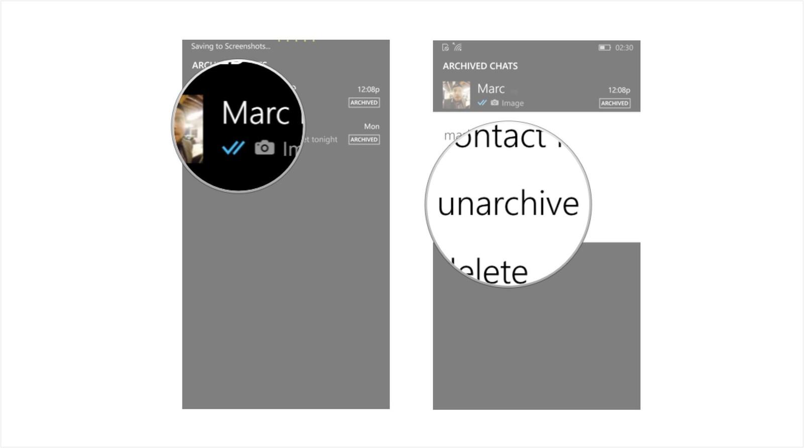 Как сохранить переписку и создать резервную копию в WhatsApp - разархивировать чат (2)