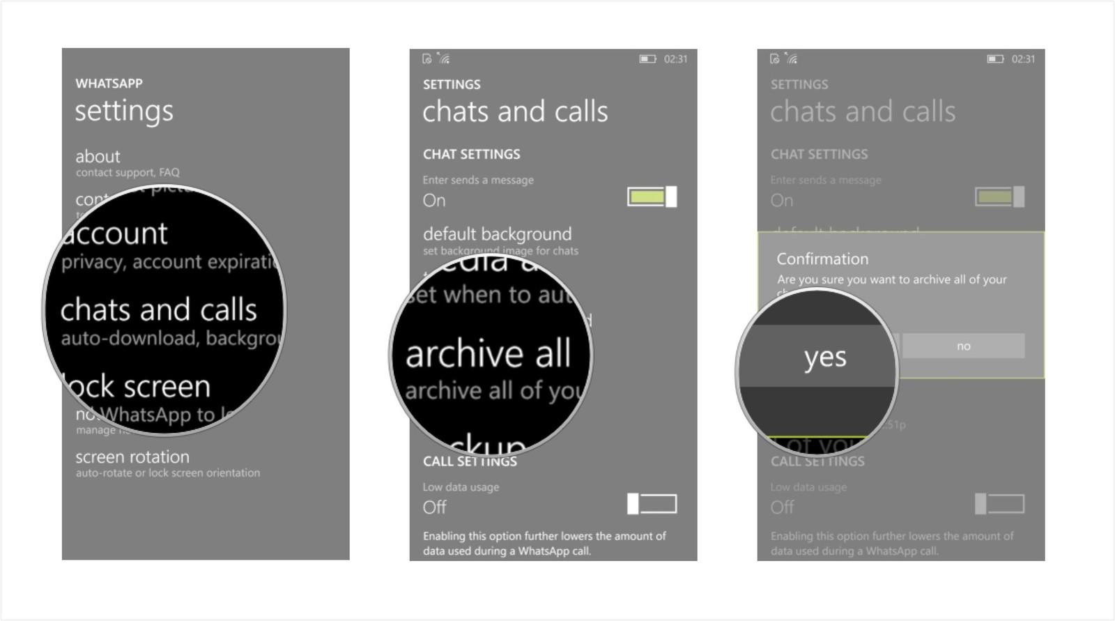 Как сохранить переписку и создать резервную копию в WhatsApp - разархивировать все (2)