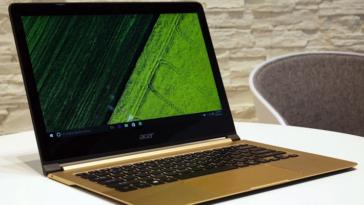 Компания Acer представила самый тонкий ноутбук в мире