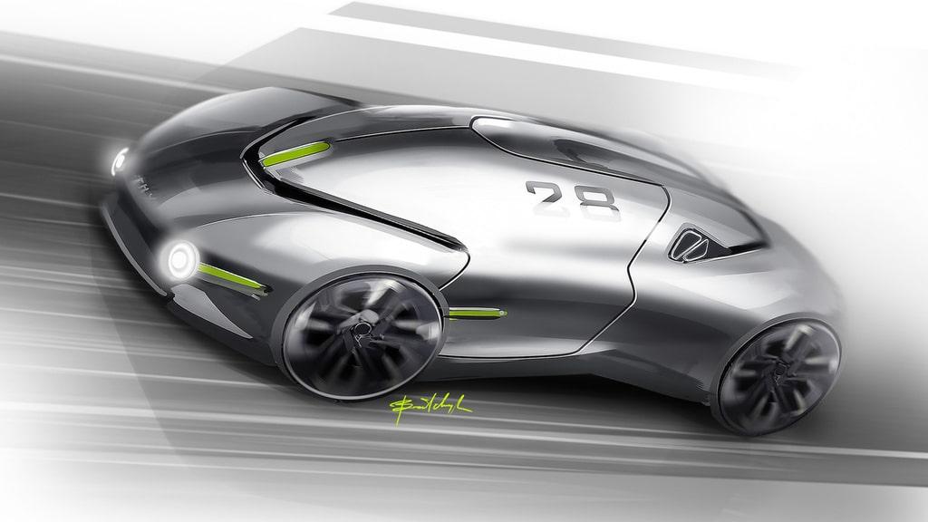 Украинец разработал дизайн спортивного электромобиля будущего - фото 1