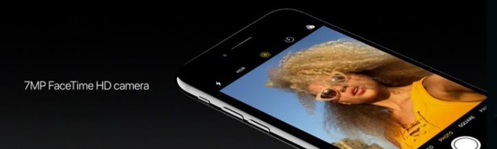 iPhone 7-фронтальная камера