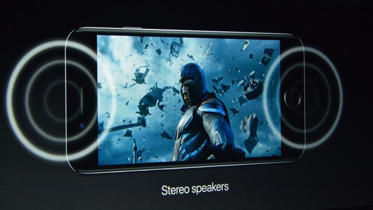 iPhone 7-стереодинамики