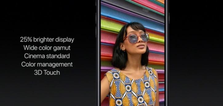 iPhone 7-яркость экрана