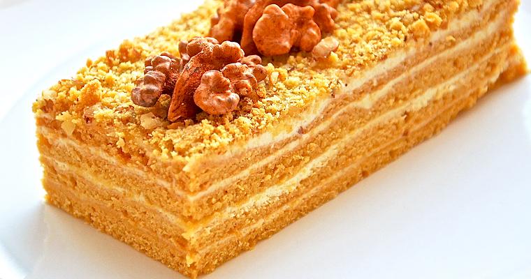 "Торт ""Поль Робсон"" на основе мёда"