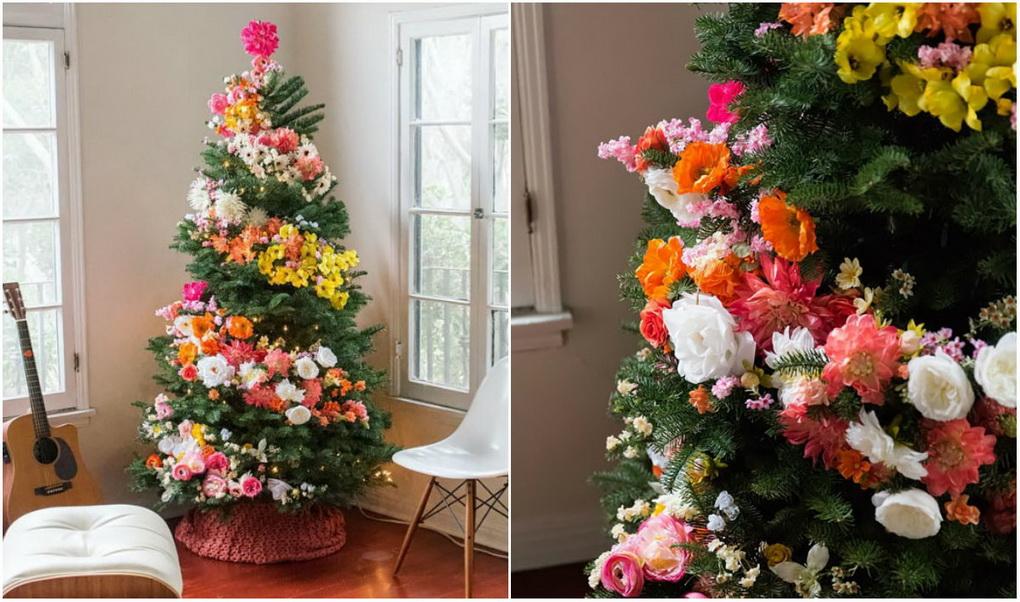 dekor-iskusstvennymi-cvetami-ukrashenie-novogodnejj-elki