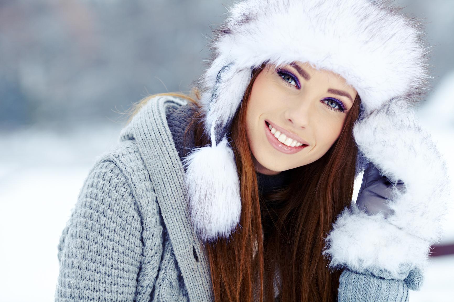 Улыбка фото красивые зимние
