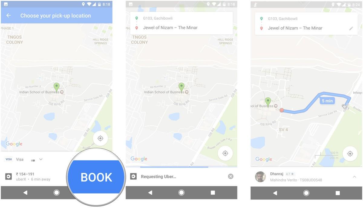 google-maps-uber-book-cab