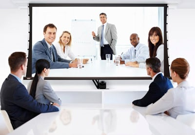 Business Team at a Video Conference