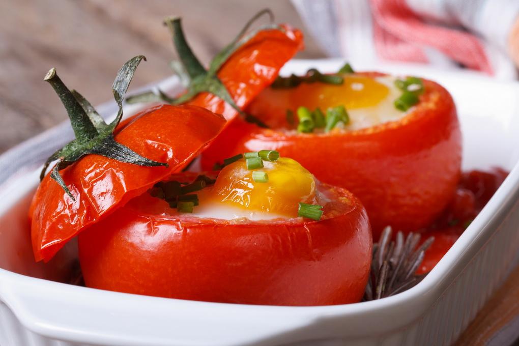 фото Яйцо в помидоре-фото