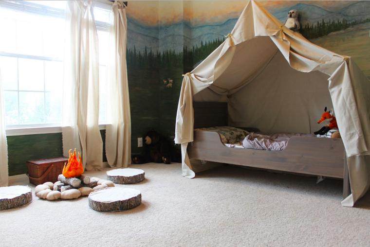 Декор детской комнаты-срубы