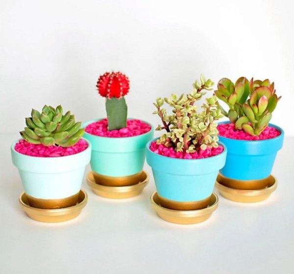 Декор цветочных горшков-пример для вдохновения 1