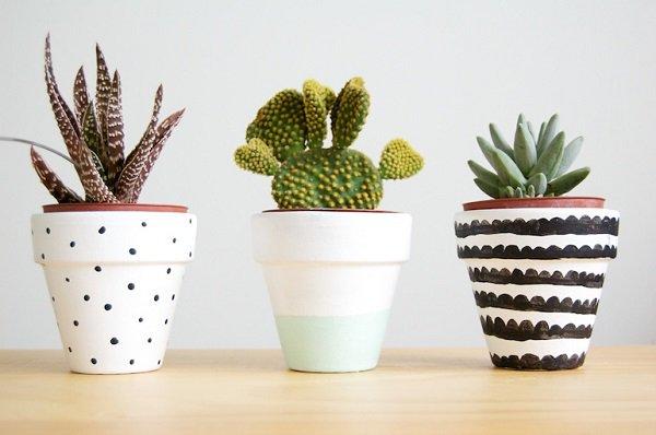 Декор цветочных горшков-пример для вдохновения 6