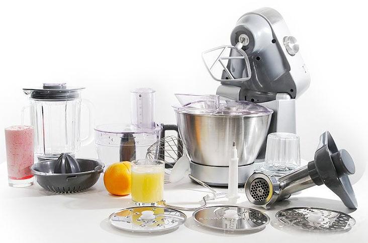 Дополнительный арсенал для кухонных машин - кухонная машина Kenwood с насадками