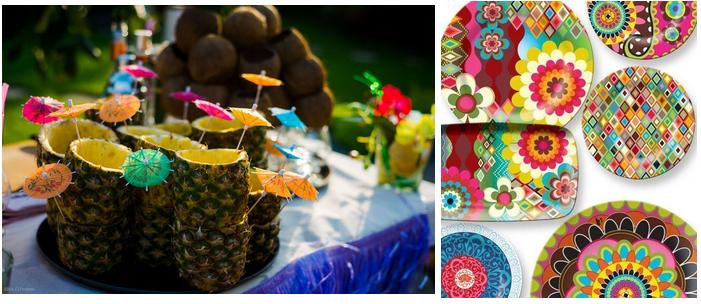 Гавайская вечеринка-посуда