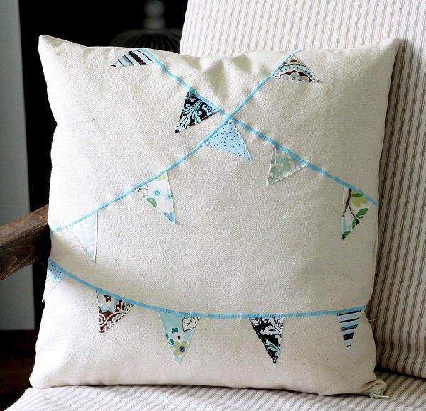 Гирлянды-декор диванной подушки