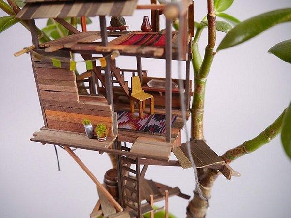 Jedediah Corwyn Voltz-миниатюрные композиции в цветочных горшках детализация