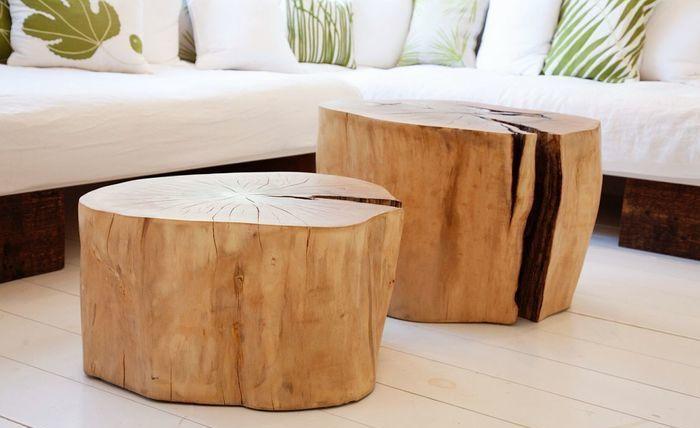 Кофейный столик из пня-идеи и креатив